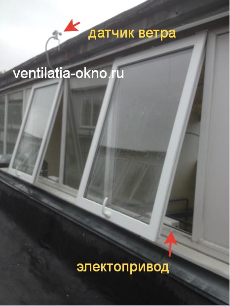 Автоматическое закрывание окон с помощью датчика ветра и дождя