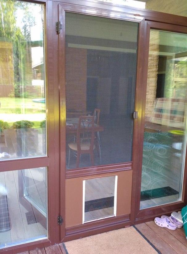 Дверца лаз для собак