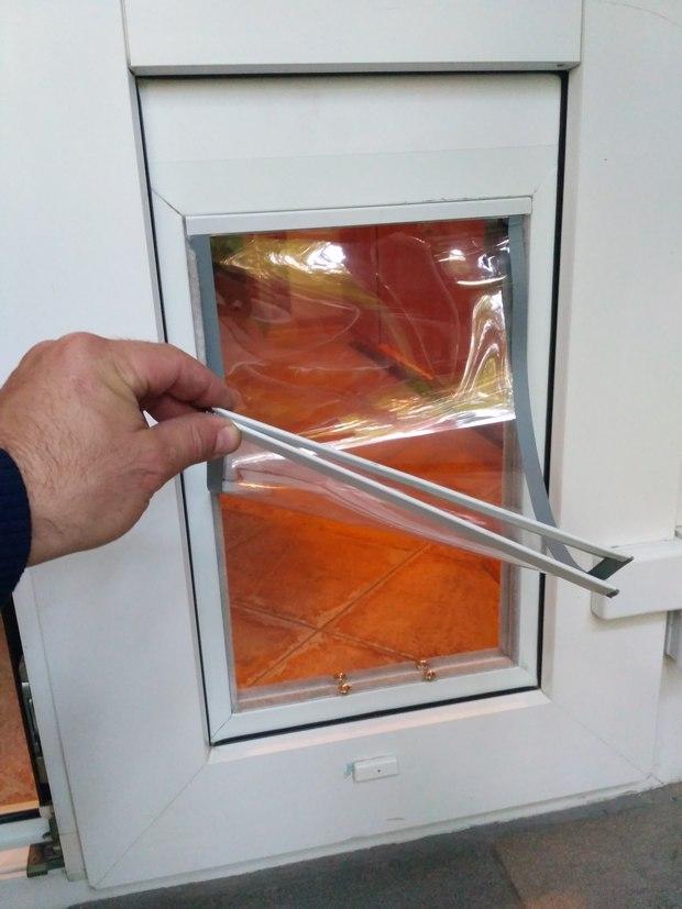 Прозрачные дверцы для собак в пластиковую дверь